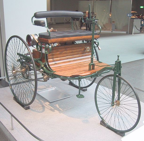 [Replica of the1886 Benz Motor Car